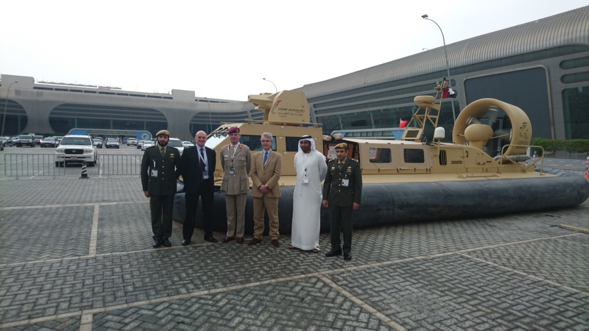 General Tom Beckett and UAE reps at UMEX